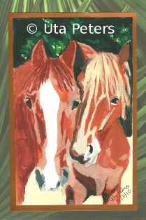 Painting of Leo and Reddi.